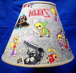 Zelda on Grey Lampshade Handmade Lamp Shade